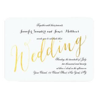 Invitaciones elegantes del boda del encanto el | invitación 12,7 x 17,8 cm
