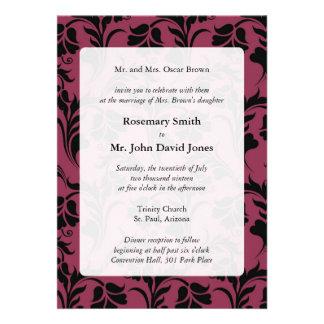 Invitaciones elegantes del boda del estampado de p invitaciones personalizada