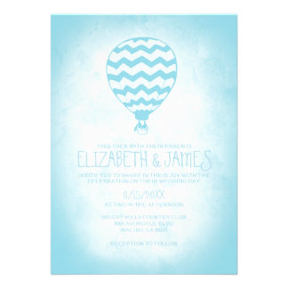 Invitaciones elegantes del boda del globo del aire