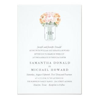 Invitaciones elegantes del boda del tarro de invitación 12,7 x 17,8 cm