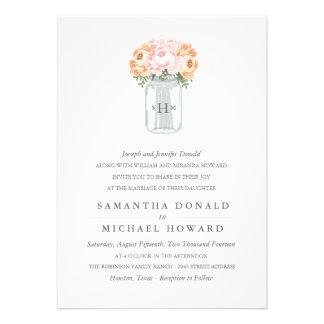 Invitaciones elegantes del boda del tarro de albañ anuncio