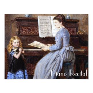 """Invitaciones elegantes del decreto del piano del invitación 4.25"""" x 5.5"""""""