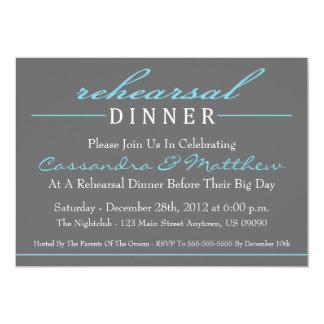 Invitaciones elegantes del fiesta de cena del invitación