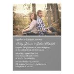 Invitaciones elegantes grises del boda de la foto