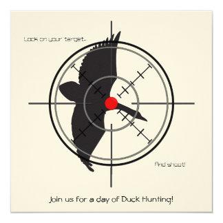 """Invitaciones en blanco de la caza del pato (añada invitación 5.25"""" x 5.25"""""""