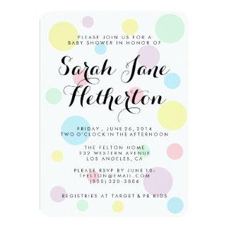 Invitaciones en colores pastel de la fiesta de invitación 11,4 x 15,8 cm
