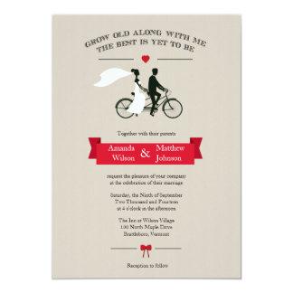 Invitaciones en tándem del boda del vintage de la anuncios