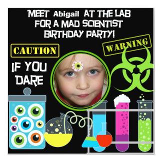 """Invitaciones enojadas de la fiesta de cumpleaños invitación 5.25"""" x 5.25"""""""