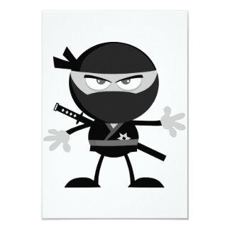 Invitaciones enojadas del guerrero de Ninja Invitación 8,9 X 12,7 Cm