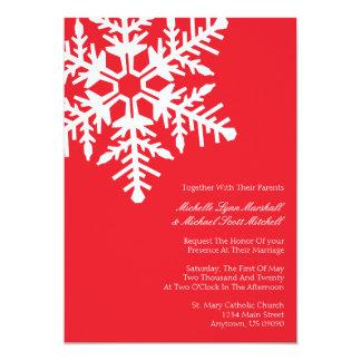 Invitaciones enormes del boda del copo de nieve comunicados
