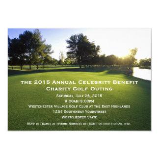"""Invitaciones escénicas de la excursión del golf invitación 5"""" x 7"""""""