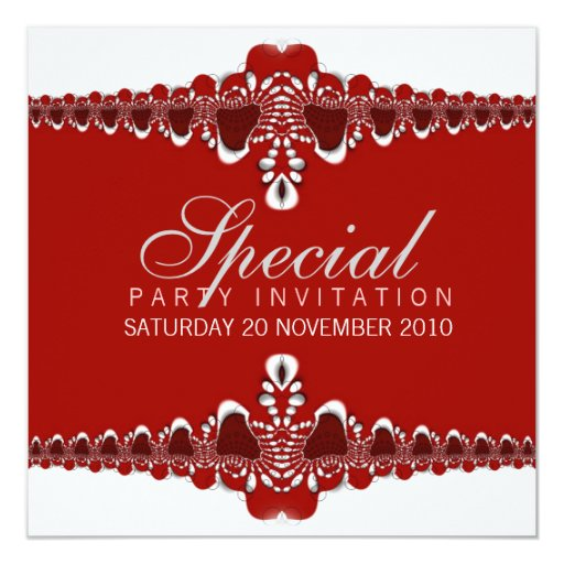 Invitaciones especiales intrépidas y elegantes invitación personalizada