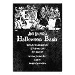 Invitaciones esqueléticas del fiesta de Halloween Anuncio Personalizado