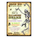 Invitaciones esqueléticas del fiesta de Halloween Invitación 12,7 X 17,8 Cm