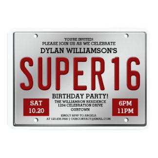 Invitaciones estupendas del fiesta de la placa invitación 12,7 x 17,8 cm