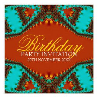Invitaciones exóticas del cumpleaños de la maripos comunicados personalizados