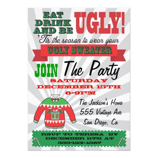 Invitaciones feas de la fiesta de Navidad del suét Comunicados