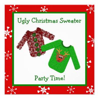 Invitaciones feas de la fiesta de Navidad del suét Anuncio