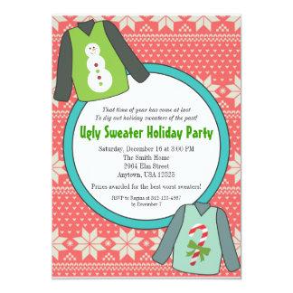 Invitaciones feas del fiesta del suéter comunicados personales