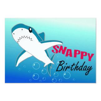 Invitaciones felices de Pary del tiburón Comunicado Personal