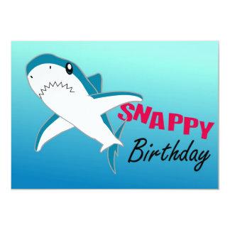 Invitaciones felices de Pary del tiburón Anuncio