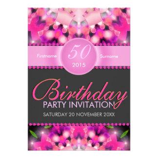 Invitaciones femeninas del cumpleaños de las rosas