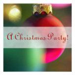 Invitaciones festivas de la decoración del navidad comunicado personalizado