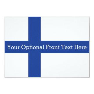 """Invitaciones finlandesas del personalizado de la invitación 5"""" x 7"""""""