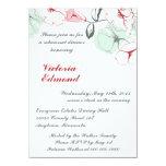Invitaciones florales abstractas de la cena del anuncio