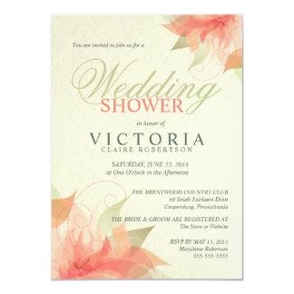 """Invitaciones florales anaranjadas de la ducha del invitación 4.5"""" x 6.25"""""""