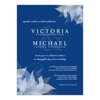 """Invitaciones florales azules y blancas del zafiro invitación 5.5"""" x 7.5"""""""