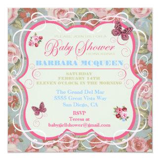 Invitaciones florales de la fiesta de bienvenida comunicados personales