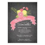 Invitaciones florales de la fiesta de bienvenida a invitación