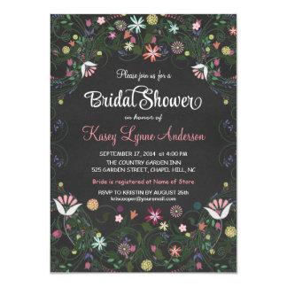 """Invitaciones florales de la guirnalda de la ducha invitación 4.5"""" x 6.25"""""""