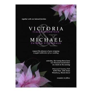 Invitaciones florales de la lavanda y del boda del invitación 13,9 x 19,0 cm