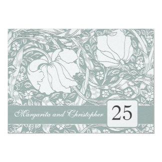 """invitaciones florales del 25to aniversario de invitación 5"""" x 7"""""""
