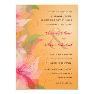 """Invitaciones florales del boda de la caída de la invitación 5.5"""" x 7.5"""""""