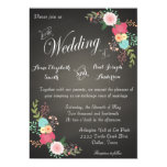 Invitaciones florales del boda de la pizarra comunicados personales