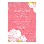Invitaciones florales del boda de la primavera ros