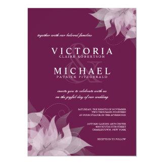 Invitaciones florales del boda de la uva de la invitación 13,9 x 19,0 cm