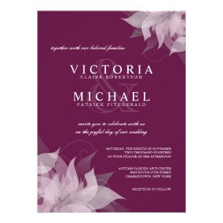 Invitaciones florales del boda de la uva de la san comunicado personalizado