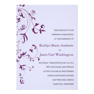 Invitaciones florales del boda de la vid