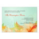 Invitaciones florales del boda del extracto de la invitacion personal