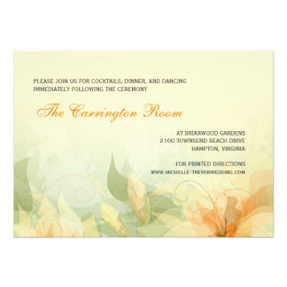 Invitaciones florales del boda del extracto de la comunicado personalizado