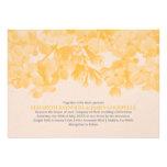 Invitaciones florales del boda del oro