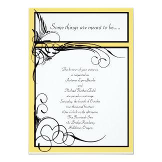 """Invitaciones florales del boda del rayo de sol invitación 5"""" x 7"""""""