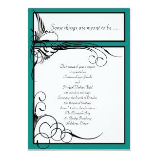 """Invitaciones florales del boda del verde de jade invitación 5"""" x 7"""""""