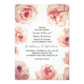 invitaciones florales del boda del vintage de la invitacion personal