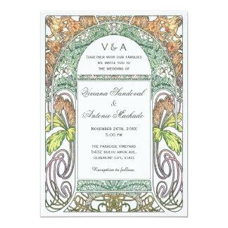 """Invitaciones florales del boda del vintage IV Invitación 5"""" X 7"""""""
