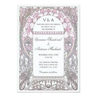 """Invitaciones florales del boda del vintage V (v.2) Invitación 5"""" X 7"""""""